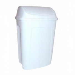 POUBELLE COUV BASCULANT 25L PLAST BLANC
