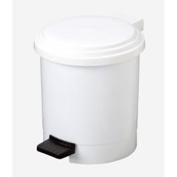 POUBELLE PEDALE 3L PLAST BLANCHE PLASTY