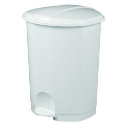 POUBELLE PEDALE 50L PLAST BLANC PRIMA