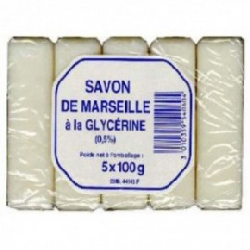 SAVON MARSEILLE GLYCERINE LOT 5X100GR