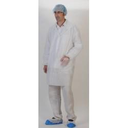 BLOUSE PLP 40GR BLANCHE PRESSIONS XL AVEC ELAST