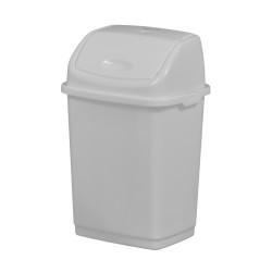 POUBELLE COUV BASCULANT 5L PLAST BLANC