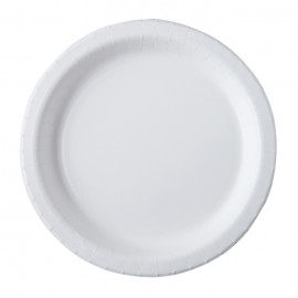 ASSIETTES CARTON BLANC BIO STRONG D26 X20