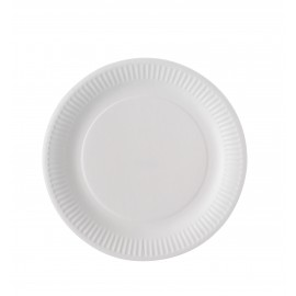 ASSIETTES CARTON BLANC BIODEGRADABLE D23 X100