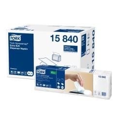 SERVIETTES ENCHEVETRéES BLANC 15840 CART 8X500